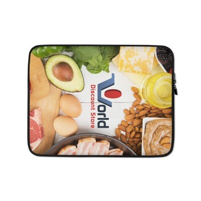 The World Discount Store Logo Laptop Sleeve