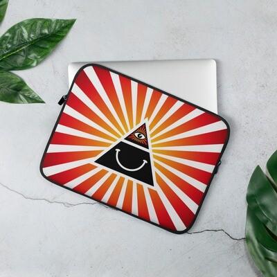 Illuminati Happy Red Laptop Sleeve