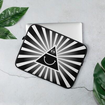 Illuminati Happy Black and White Laptop Sleeve