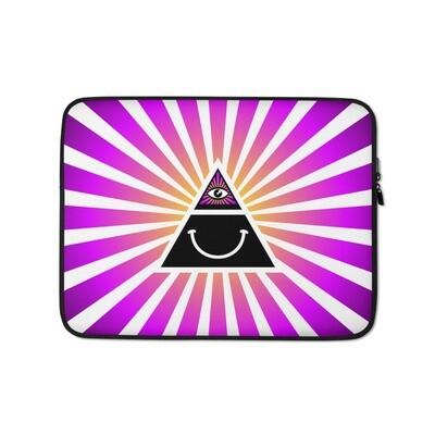 Illuminati Happy Pink Laptop Sleeve