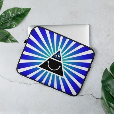 Illuminati Happy Blue Laptop Sleeve