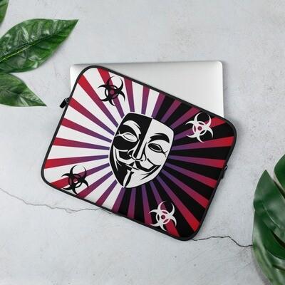 Guy Fawkes Anonymous Vendetta Illuminati Split Laptop Sleeve