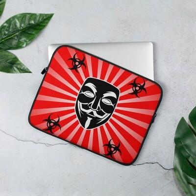 Guy Fawkes Anonymous Vendetta Illuminati Red Laptop Sleeve