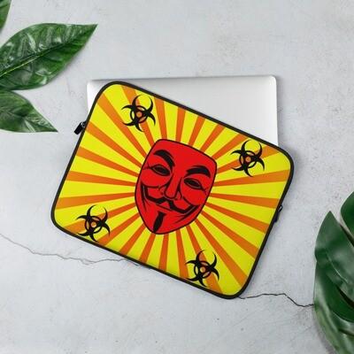 Guy Fawkes Anonymous Vendetta Illuminati Yellow Laptop Sleeve