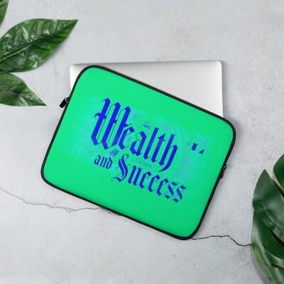Illuminati Wealth and Success Green Laptop Sleeve