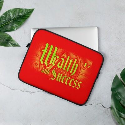 Illuminati Wealth and Success Red Laptop Sleeve