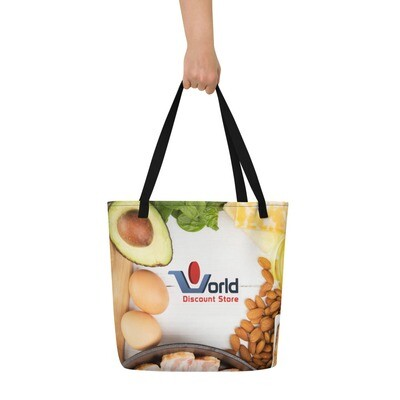 The World Discount Store Food Store Beach Bag
