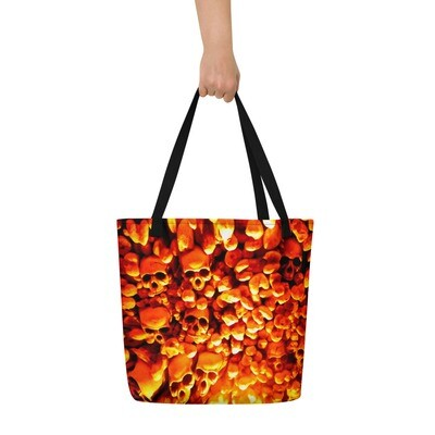 Halloween Bag with Skulls Art Beach Bag