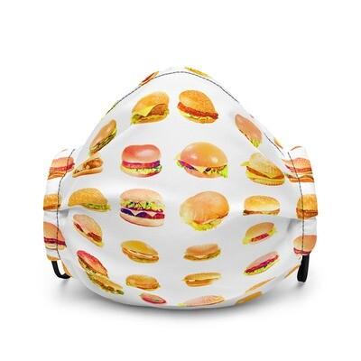 Fun Mask Hamburger Lover McDs Burger Wendys King Premium face mask