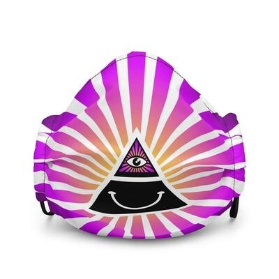 Cool Face Mask Iluminati Happy Style Black and Pink Premium Face Maskmium face mask