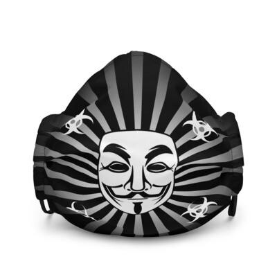 Cool Black Mask Vendetta Style Premium Face Mask
