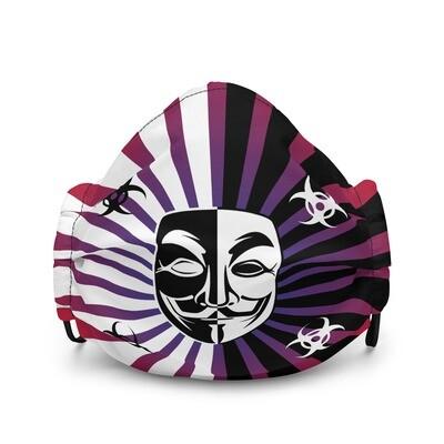 Cool Srtipes Mask Vendetta Style Premium Face Mask