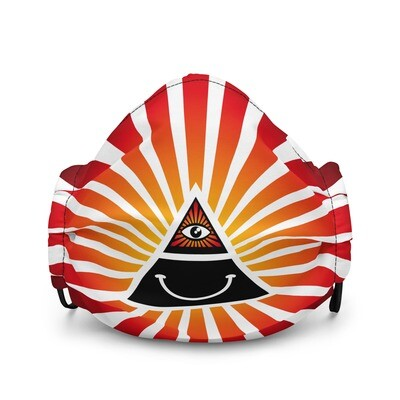 Cool Face Mask Iluminati Happy Style Black and Red Premium Face Mask
