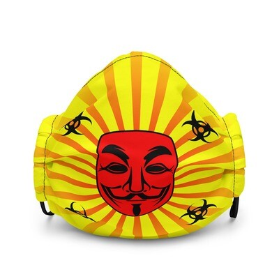 Cool Yellow Mask Vendetta Style Premium Face Mask