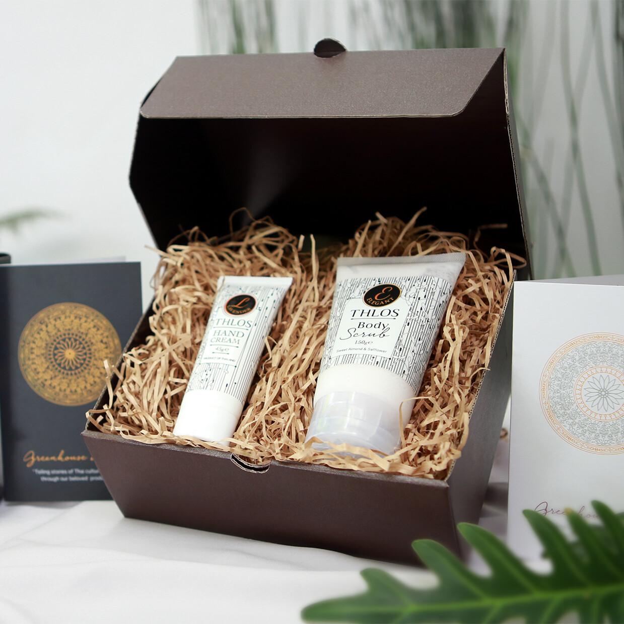 Hand Cream & Body Scrub Set