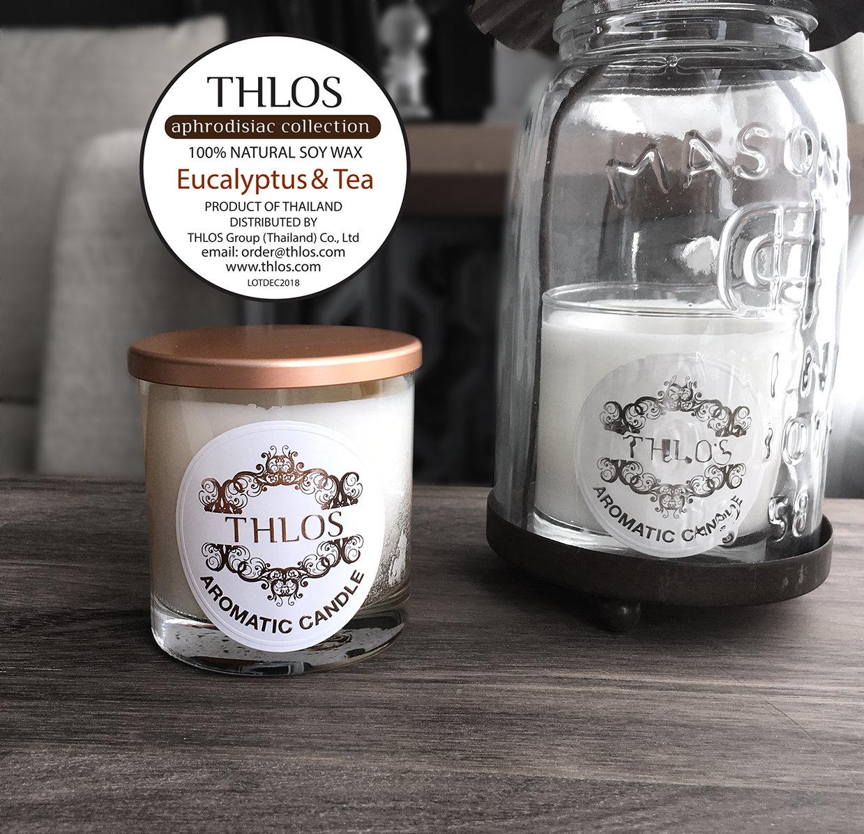 Soy Wax Candle :  Eucalyptus & Tea
