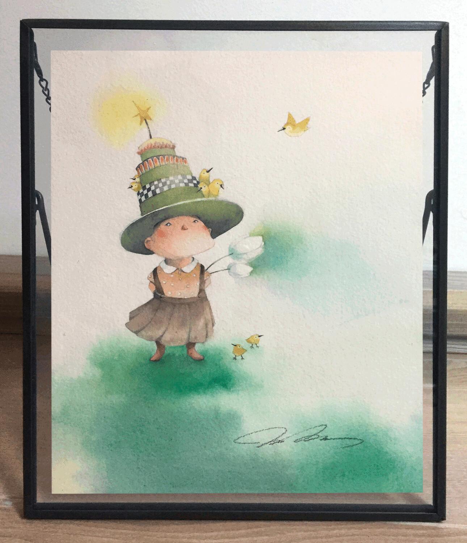Green Hat Girl