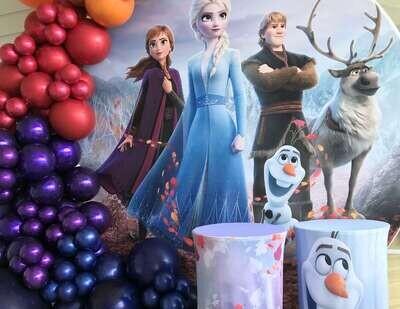 Frozen Circular Backdrop #1