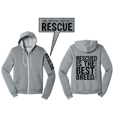 Rescued is the Best Breed Hooded Sweatshirt
