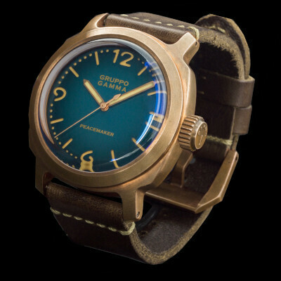 Бронзовый Bronze Peacemaker PN-19 44mm сине-зеленый ПРЕДЗАКАЗ ДЕПОЗИТ