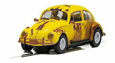 Scalextric C4045 Volkswagen Beetle, Rusty Yellow, DPR, 1/32 Scale w/Lights