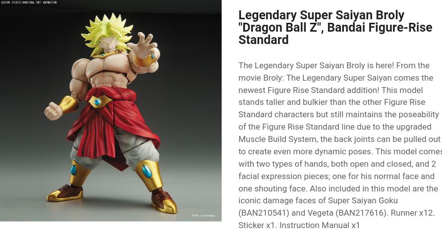 "Super Saiyan Broly ""Dragon Ball Z"""