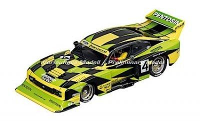"""Carrera 30832 Ford Capri Zakspeed Turbo """"Jürgen Hamelmann-Team, No. 4"""", Digital 132 w/Lights"""