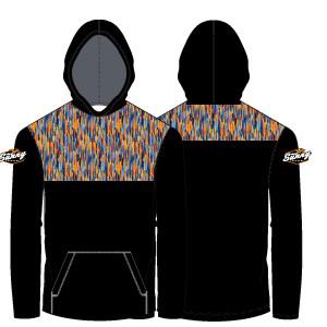 Sunny Lacrosse Lightweight Hoodie: Black