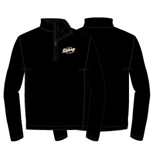 Sunny Lacrosse 1/4 Zip: Black