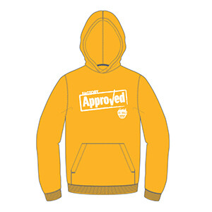"We Build ""Factory Approved"" Hoodie- Athletic Gold"