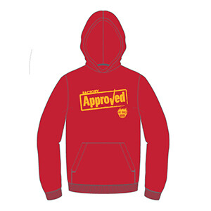 "We Build ""Factory Approved"" Hoodie- Red"
