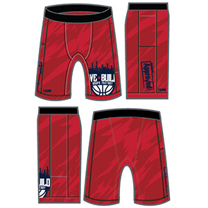 """We Build """"Factory Approved"""" Compression Short- Red"""
