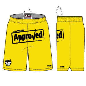 """We Build """"Factory Approved"""" Elite Short- Yellow"""