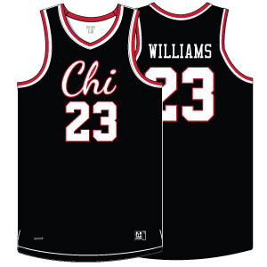 Chi Basketball Authentic Game Jersey- Black