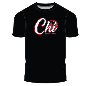 Chi Basketball Men's T-Shirt- Black