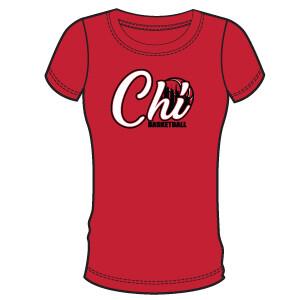 Chi Basketball Women's T-Shirt- Red