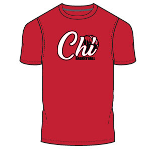 Chi Basketball Men's T-Shirt- Red