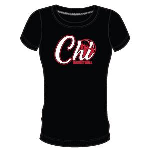 Chi Basketball Women's T-Shirt- Black