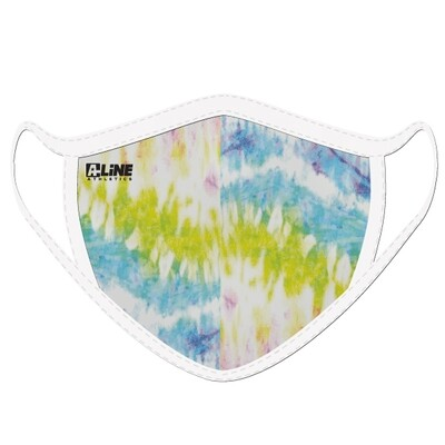Tie Dye Face Mask- Lime/Light Blue