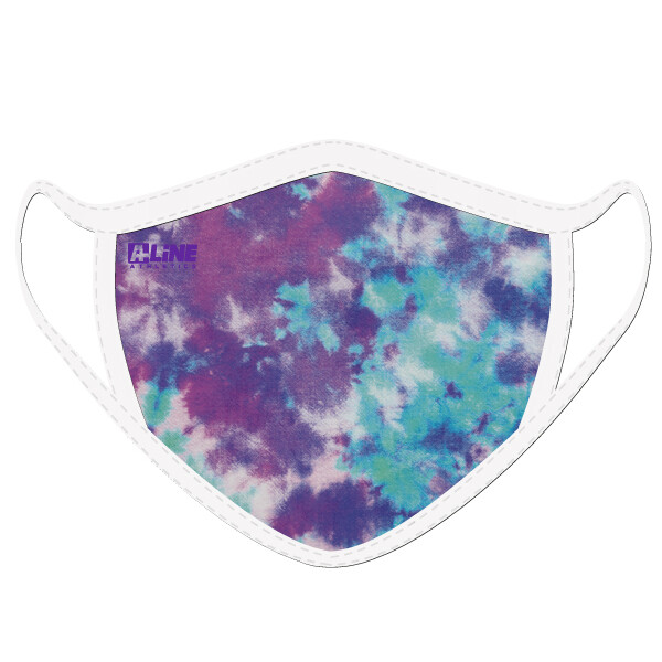 Tie Dye Face Mask- Purple/Turquoise