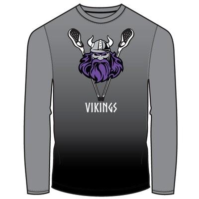 CF Vikings 2020 Long Sleeve Shirt- Charcoal Fade