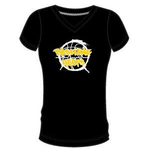 Baseline Hoops Black Women's V Neck