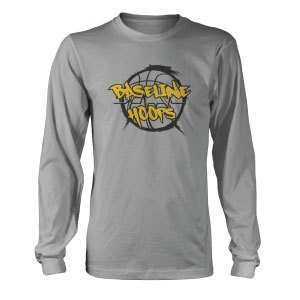 Baseline Hoops Heather Grey Long Sleeve T-Shirt