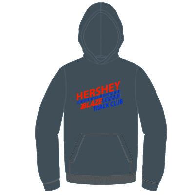 Hershey Blaze 8.0 oz Hoodie: Charcoal Grey