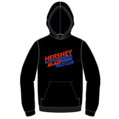 Hershey Blaze 8.0 oz Hoodie: Black