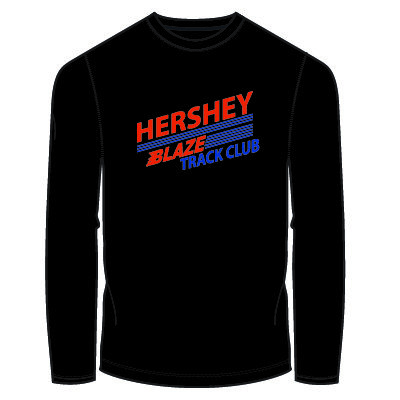 Hershey Blaze Long Sleeve Shirt: Black