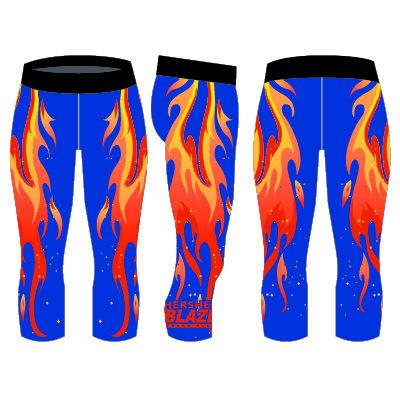 Hershey Blaze Fire 3/4 Compression Pant