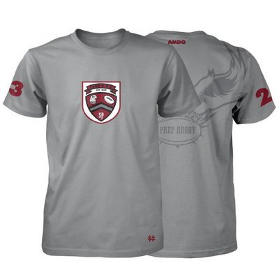 St. Joe's Prep Rugby Performance Shirt- Grey- Click to Order