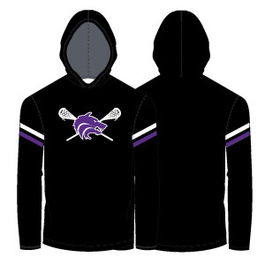 Timber Creek Lacrosse Lightweight Hoodie- Black