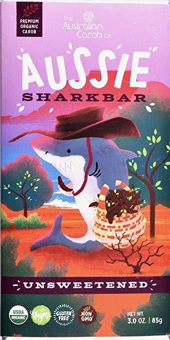 ORGANIC CAROB AUSSIE SHARKBAR: UNSWEETENED!